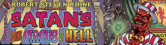 Satan's 3-Ring Circus of Hell banner